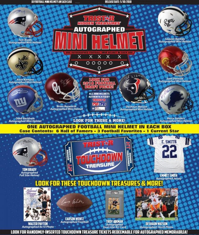 2018 Tristar Hidden Treasures Series 12 Autographed Mini Helmet