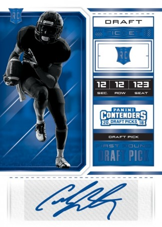 2018 Panini Contenders Draft Picks Football Personal Box - Cracked Ice Time 4/20 release