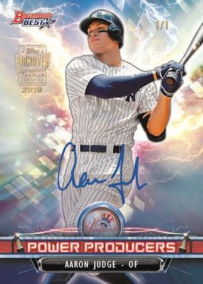 2019 Topps Archives Signature Series, Active Player Edition Personal Box