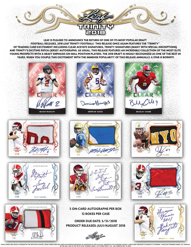 2018 Leaf Trinity 1 Box Random Division, 1 Hitless Division get a Spot in the Next #7