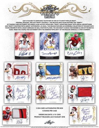 2018 Leaf Trinity 1 Box Random Division, 1 Hitless Division get a Spot in the Next #6