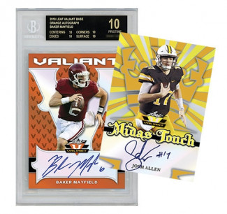 2018 Leaf Valiant Football 1 Box Random Divisions #10 - 1 Hitless Division gets a spot in the next