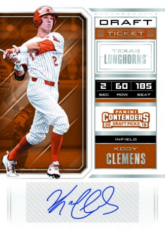 2018 Panini Contenders Draft Picks Baseball Personal Box - PRICE DROP